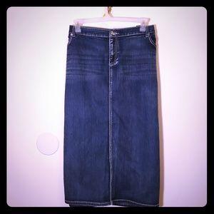 Beautiful plus size embellished denim skirt